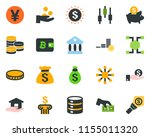 colored vector icon set  ... | Shutterstock .eps vector #1155011320