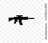 rifle vector icon isolated on... | Shutterstock .eps vector #1155011590