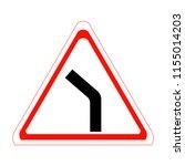 bend to left. vector... | Shutterstock .eps vector #1155014203