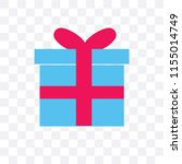 gift vector icon isolated on... | Shutterstock .eps vector #1155014749