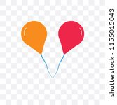 balloons vector icon isolated...