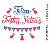 felices fiestas patrias ... | Shutterstock .eps vector #1155015139