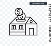 mortgage vector icon isolated... | Shutterstock .eps vector #1155015613