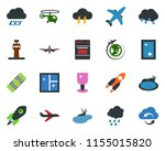colored vector icon set   rain... | Shutterstock .eps vector #1155015820