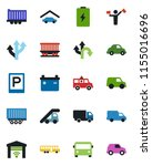 color and black flat icon set   ...   Shutterstock .eps vector #1155016696