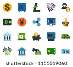 colored vector icon set  ...   Shutterstock .eps vector #1155019060