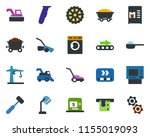 colored vector icon set  ... | Shutterstock .eps vector #1155019093