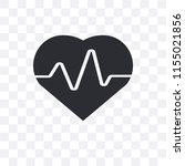 cardiogram vector icon isolated ... | Shutterstock .eps vector #1155021856