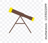 telescope vector icon isolated... | Shutterstock .eps vector #1155022099