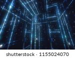 rotating cube with hexadecimal... | Shutterstock . vector #1155024070