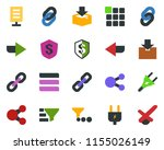 colored vector icon set   chain ...