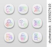 e payment app icons set....