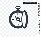 compass vector icon isolated on ... | Shutterstock .eps vector #1155030103