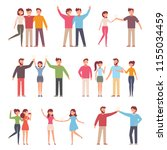 vector illustration in a flat... | Shutterstock .eps vector #1155034459