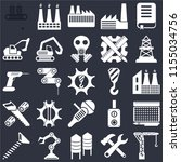 set of 25 icons such as crane ...