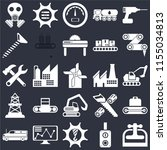 set of 25 icons such as machine ...
