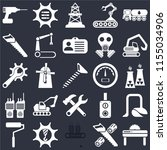 set of 25 icons such as saw ...