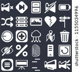 set of 25 icons such as speaker ...