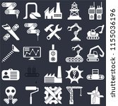 set of 25 icons such as mill ...