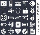 set of 25 icons such as notepad ...