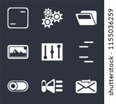 set of 9 simple icons such as... | Shutterstock .eps vector #1155036259
