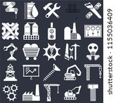 set of 25 icons such as bolt ...