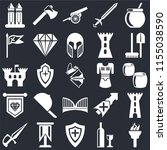 set of 25 icons such as torch ...