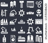 set of 25 icons such as silo ...