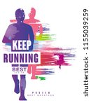 keep running best gesign... | Shutterstock .eps vector #1155039259