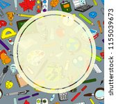 back to school sale flyer card. ... | Shutterstock . vector #1155039673