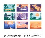 collection of beautiful scene...   Shutterstock .eps vector #1155039940