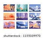 collection of beautiful scene... | Shutterstock .eps vector #1155039970