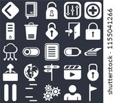 set of 25 icons such as flag ...