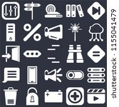 set of 25 icons such as video...