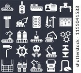 set of 25 icons such as vacuum  ...