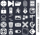 set of 25 icons such as back ...