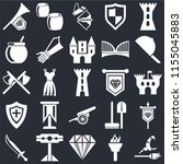 set of 25 icons such as witch ...