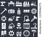 set of 25 icons such as roller  ...