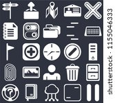 set of 25 icons such as pause ...