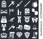 set of 25 icons such as tools ...