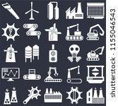 set of 25 icons such as factory ...