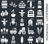 set of 25 icons such as stable  ...