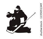 ice hockey goalie  abstract... | Shutterstock .eps vector #1155051349