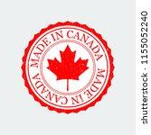grunge rubber stamp canada on... | Shutterstock . vector #1155052240