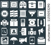 set of 25 icons such as folder  ...