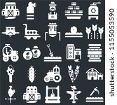 set of 25 icons such as scythe  ...