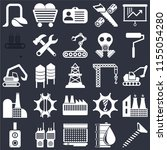 set of 25 icons such as screw ...