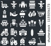 set of 25 icons such as spade ...