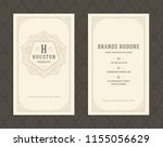 luxury business card and... | Shutterstock .eps vector #1155056629