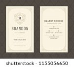 luxury business card and...   Shutterstock .eps vector #1155056650